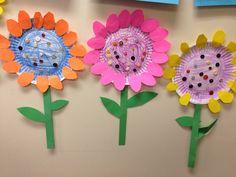 Blumen aus Pappteller