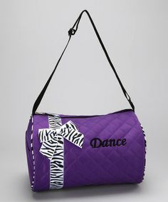 Take a look at this Purple Bow 'Dance' Duffel Bag by Seesaws & Slides on #zulily today!