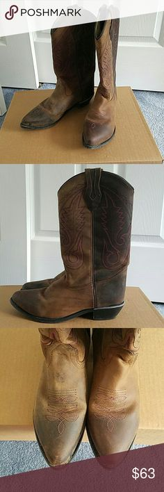 Smoky Mountain cowgirl boots Smoky Mountain Ladies boot size 8. Lightly used. Excellent condition. Comfortable to wear. Slight heel. Pointed toe. Cute pink stitching!! Smoky Mountain  Shoes Heeled Boots