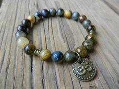 Mala beads bracelet Pietersite gemstone bracelet by PureLapis
