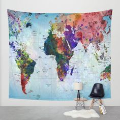 279 gbp world map indian tapestry wall hanging mandala throw map wall tapestry by mark ashkenazi society6 gumiabroncs Gallery