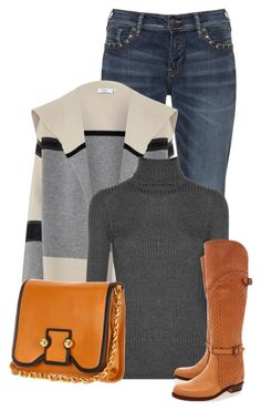 """""""Untitled #13022"""" by nanette-253 ❤ liked on Polyvore featuring Silver Jeans Co., Vince, Botkier and Frye"""