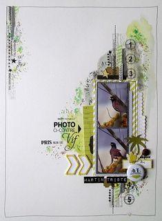 #papercrafting #scrapbook #layout   Détails réa 1 de celma (2)