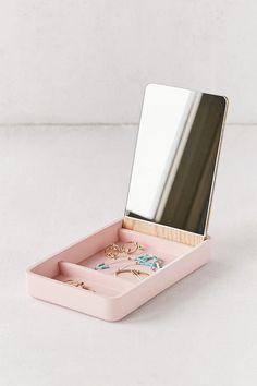 Gold box with Amethyst crystals bathroom decor acrylic box ring box office decor home decor box candy box makeup brush box