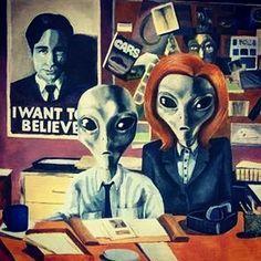 I WANT TO BELIEVE #aliens #xfiles #expedientex #mulder #mulderandscully…