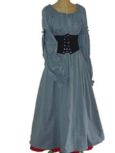 Handmade Noble Womens Cotton Gown with waist cinch by mistythicket, $159.99