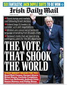 What the papers say: A look at today's front pages. Trivia Of The Day, The Babadook, Contingency Plan, Newspaper Headlines, Journalism, Daily Mail, Irish, Highlights, The Past