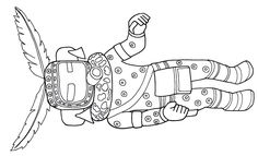 Kachina Doll Representing Avatshoya From The Hopi Indians Printable Coloring Book Page