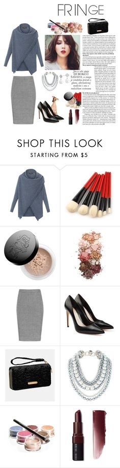 """Fringed Cashmere"" by max-chance ❤ liked on Polyvore featuring Repeat, Kat Von D, Sigma, Alexander McQueen, Avenue, Bellápierre Cosmetics, Bobbi Brown Cosmetics, Blue Nile and fringe"