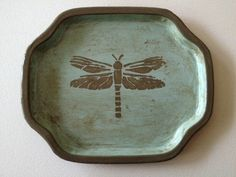 SHABBY CHIC DRAGONFLY PLATE....