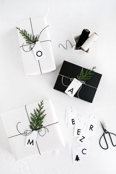Printable Initial Gift Tags – Homey Oh My – diy decoration Christmas Gift Wrapping, Diy Christmas Gifts, Christmas Decorations, Christmas Letters, Creative Gift Wrapping, Creative Gifts, Wrapping Gifts, Wrapping Ideas, Creative Ideas