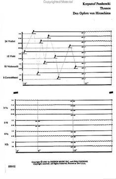 "Experimental music notation resources - Krzysztof Penderecki - ""Threnody"""