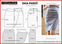 Formal skirt Analisem com a devida atenção execução do molde de saia com flores que está explicada com grande rigor, em pormenor no desenho, para que concluam o molde.