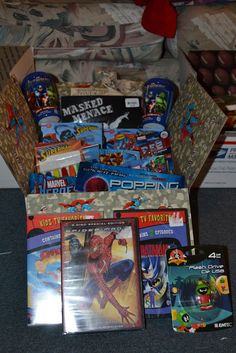 """The Toy Box Years: Super Hero Themed Care Package""  Perfect for the deployed member's inner-child - MilitaryAvenue.com"