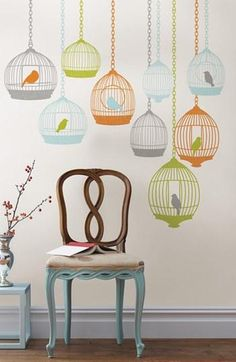 Easy decorating idea: Wall decals
