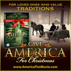 Christmas Tradition #3: Sleigh rides. Facebook Christmas campaign for the Dinesh D'Souza film, AMERICA: Imagine the World Without Her.