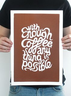 Inspiring: Hand Screen Printed Typography by Ash Jordan, via Behance