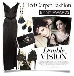 """Eva Green Emmy Awards/Penny Dreadful"" by clotheshawg ❤ liked on Polyvore featuring Rodarte, Noir, La Perla, Helene Jewelry and YooLa"