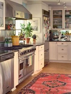 Pottery Barn Kitchen Rugs Garbage Can For 1403 Best Kitchens Images In 2019 Home Remodeling Units Cool Indoor And Outdoor Vintage Kilim Rug Design Inspiration Amazing Light Blue Wall With White