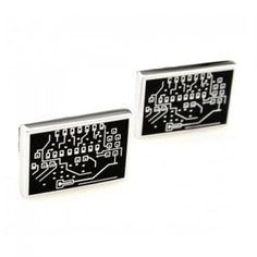 Pair of Chic Circuit Board Shape Alloy Cufflinks For Men