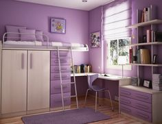 Ide Desain Kamar Tidur Anak Violet Cantik | Griya Indonesia