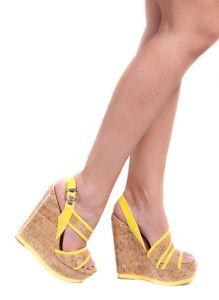 Bottines en daim jaunes à lacets - Sandales à talons - Chaussures ... 120b536b6ce4
