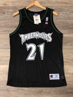5e07c23c2d3 Kevin Garnett Minnesota Timberwolves Vintage Champion NBA Jersey 40