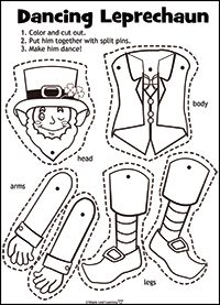 How to Make Jumping Jack Leprechauns for St. Patrick's Day
