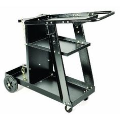 The Hot Max WC100 Welding/Plasma Cutter Cart is the perfect addition to any MIG welder or plasma cutter. The Hot Max WC100 welding cart is all steel construction with a durable finish for years of use.  The easy pull handle is out of the way of gun leads and along with the 6″ back wheels and 2-1/2″ front castors makes the welding cart very easy to move around