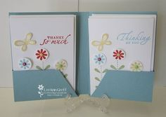 free pdf & instructions to make portfolio note card holder (Holds four with envelopes)