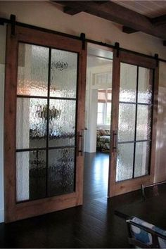 Rustic barn doors inside the house! Love these farmhouse style sliding barn doo., Rustic barn doors inside the house! Love these farmhouse style sliding barn doors in this gorgeous dream home. Interior Sliding Barn Doors, Diy Sliding Barn Door, Diy Barn Door, Rustic Barn Doors, Barn Style Doors, Barn Door In Bathroom, Rustic Shower Doors, Rustic Interior Doors, Sliding French Doors