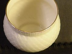 "Belleek Fine Parian China 3"" Thistle Votive Candle Holder In Retrospect 2001 #belleekinretrospect"