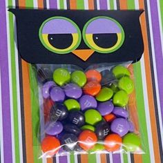 "Happy ""Owlloween"" Treat Topper Candy Bags"