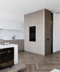 kitchen Modern Kitchen Furniture, Modern Kitchen Design, Interior Design Kitchen, Modern Interior, Residential Interior Design, Interior Architecture, Küchen Design, House Design, French Kitchen Decor