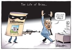 20160901bdCostume - Eskom's Molefe, captured by 'The Constitution'. Brandan brings the action