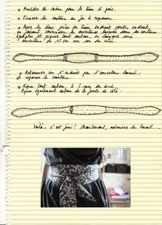 I can't read the directions, but the pictures show exactly what I seem to be looking for! A belt!