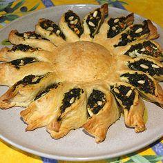Tarte soleil aux épinards, feta et pignon : Recettes de tartes soleil - Journal des Femmes
