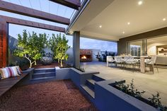 Modern-exterior-dining-zone-brindabella-Iconic-craftsmanship-in-distinctively-rural-landscape-in-Australia