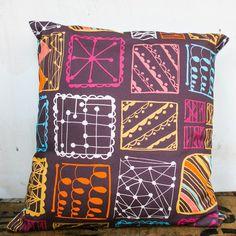 Doodle Squares Cushion Cover (£45.00) - Rachael Taylor