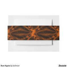 Rust Agate Invitation Belly Band