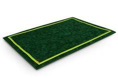 Tapis de poker Morize 70x50 (vert) - Pokeo.fr - Tapis de jeu haut de gamme Morize Chavet antidérapant en suédine verte 70x50cm.