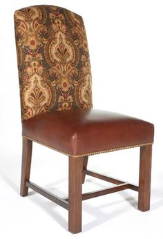 Option for dinette chairs. Love that you can send them your own fabric or pick from there selections
