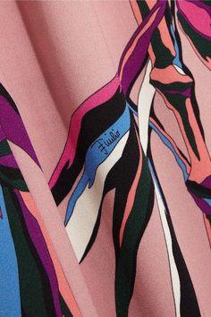 Emilio Pucci - Printed Crepe Dress - Pink - IT42