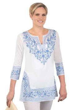 Cotton Embroidered Tunics