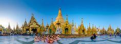 Shwedagon-Pagoda panorama Burma  #burma #myanmar
