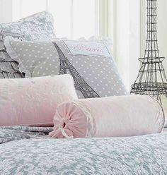 Buy Pillows in Pink velvet, pom poms, dove gray ruffles and polka dots. French Cottage Chic the perfect accent pillow for your Paris Apartment house or shabby chic cottage home. Lace Pillows, Ruffle Pillow, Buy Pillows, How To Make Pillows, White Wicker Chair, Overstuffed Chairs, Cottage Furniture, Chic Bedding, Shabby Chic Cottage