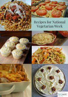 A collection of tasty vegetarian recipes for breakfast, lunch, supper and dessert - perfect for National Vegetarian Week - and beyond!