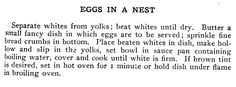 """EGGS IN A NEST - The """"Settlement"""" Cook Book"""
