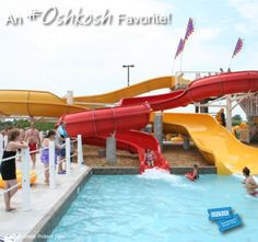 Fun for the whole family, #Oshkosh Favorite Pollock Community Water Park has a lazy river, water slides and a 3,500 square-foot water playground! Don't miss events like their ice cream social, teen night luau and Aqua Fiesta Days!