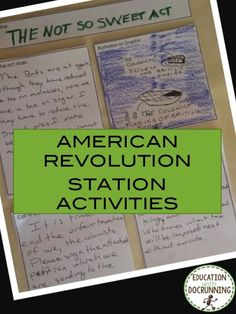students in the acts that led to the American Revolution. American revolution station activities are ready to use.Engage students in the acts that led to the American Revolution. American revolution station activities are ready to use. 7th Grade Social Studies, Social Studies Classroom, Social Studies Activities, History Classroom, History Activities, Teaching Us History, Teaching American History, History Education, Student Teaching